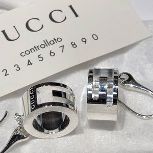 4260efbabf5 GUCCI Jewelry - NWT GUCCI Sterling Silver G Ring Drop Earrings